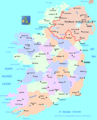Ireland Political Map - Mapsof.Net Map