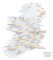 Ireland Railway Map - Mapsof.Net Map