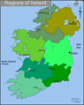 Ireland Regions Map - Mapsof.Net Map