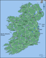 Ireland Road Map - Mapsof.Net Map