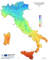 Irradiation Map Italy - Mapsof.Net Map