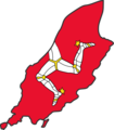 Isle of Man Flag Map - Mapsof.net