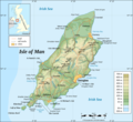 Isle of Man Topographic Map - Mapsof.net