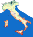 Isotherms Map Italy - Mapsof.Net Map