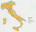 Italy Land Use Map 1972 - Mapsof.Net Map