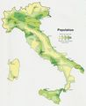Italy Population Map 1972 - Mapsof.Net Map