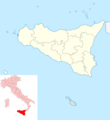Italy Sicily Blank Map - Mapsof.Net Map