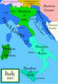 Italy C 1810 Historical Maps - Mapsof.Net Map