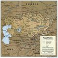 Kazakhstan 2001 Cia Map - Mapsof.Net Map