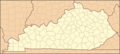 Kentucky Locator Map - Mapsof.net