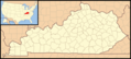 Kentucky Locator Map With Us - Mapsof.net