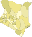 Kenya Districts Colored - Mapsof.net