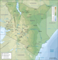 Kenya Topographic Map Fr - Mapsof.net