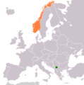 Kosovo Norway Locator 1 - Mapsof.net