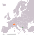 Kosovo Switzerland Locator 1 - Mapsof.net