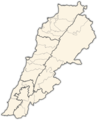 Lebanon Districts - Mapsof.net