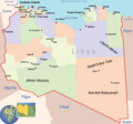 Libya Political Map - Mapsof.Net Map