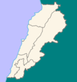 Location Map Lebanon - Mapsof.Net Map