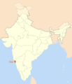 Location Map of Goa - Mapsof.Net Map
