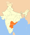 Location of Andhra Pradesh - Mapsof.net
