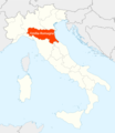 Location of Emilia Romagna Map - Mapsof.Net Map