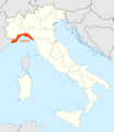 Location of Liguria Map - Mapsof.Net Map