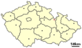 Location of Czech City Jablonne Nad Orlici - Mapsof.net