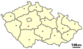 Location of Czech City Sedlcany - Mapsof.net