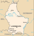Luxembourg Cia Wfb Map - Mapsof.Net Map
