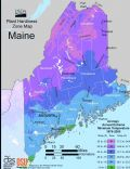 Maine Plant Hardiness Zone Map - Mapsof.Net Map
