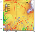 Mali Topography - Mapsof.Net Map