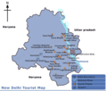 Map Delhi - Mapsof.Net Map