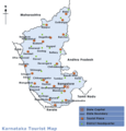 Map Karnataka - Mapsof.Net Map