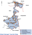 Map West Bengal - Mapsof.Net Map