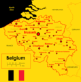 Map Mapa Belgii Belgium - Mapsof.Net Map