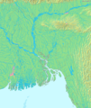 Map of Bangladesh Demis - Mapsof.Net Map