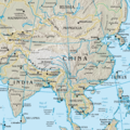 Map of China (physical) 1 - Mapsof.Net Map