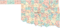 Map of Cities Counties In Oklahoma - Mapsof.Net Map