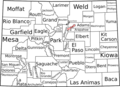 Map of Colorado Counties, Labelled - Mapsof.Net Map