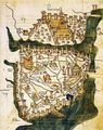 Map of Constantinople (1422) By Florentine Cartographer Cristoforo Buondelmonte - Mapsof.net