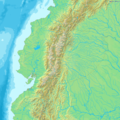 Map of Ecuador Demis - Mapsof.net