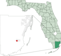Map of Florida Highlighting Florida City - Mapsof.Net Map