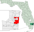 Map of Florida Highlighting Fort Lauderdale - Mapsof.Net Map