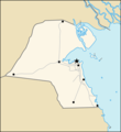 Map of Kuwait (blank) - Mapsof.Net Map