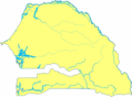 Map of Senegal Blank - Mapsof.net