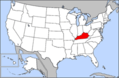Map of Usa Highlighting Kentucky - Mapsof.net