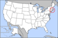 Map of Usa Highlighting Rhode Island - Mapsof.net