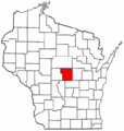 Map of Wisconsin Highlighting Portage County - Mapsof.Net Map