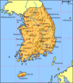 Map South Korea Blank - Mapsof.net