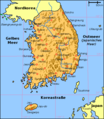 Map South Korea De - Mapsof.net